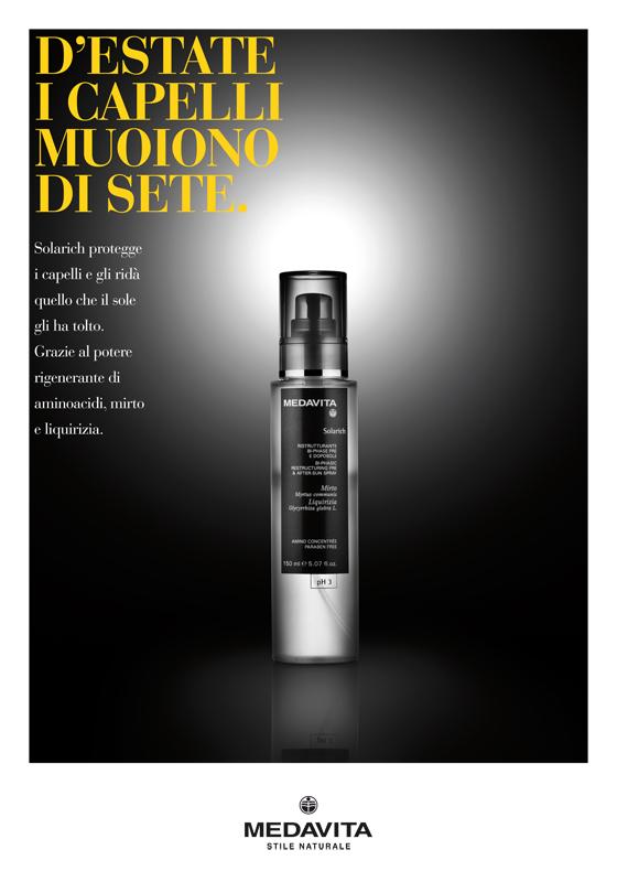 liberate le aragoste medavita cosmetici prodotti capelli pubblicità line solari