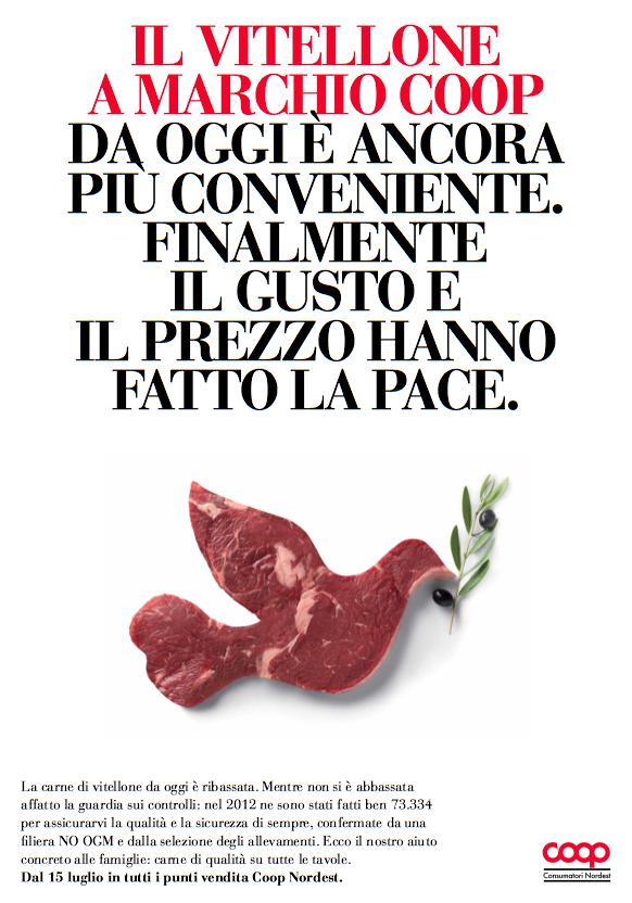 liberate le aragoste pubblicità coop food design alimentare carne